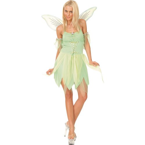 Adults Ladies Neverland Fairy Costume for Peter Pan Fairytale Cosplay US Size 2-4