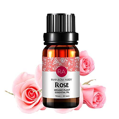 Rose Ätherisches Öl, 100{1761a69c54c66ea87a016a8e0317ef2a71349520185479d5b3e4dead74dda5bb} Reines Natürliches Aromatherapie Rosenöl für Diffusor (10ML)