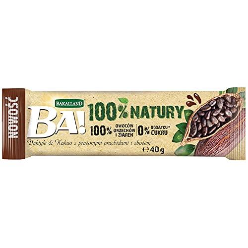 Bakalland Ba! Baton Daktyle & Kakao Z Prażonymi Arachidami I Zbożem, 40 g