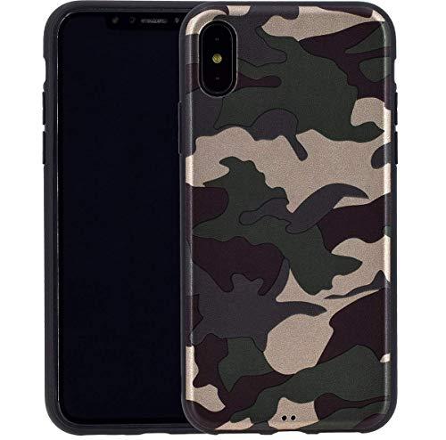 Favory Camouflage Design Silikon Hülle Premium TPU Hülle für iPhone XS Max (6.5