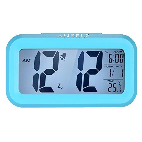 Anself LED Digital Alarma Despertador Reloj