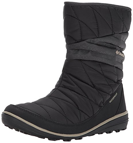 Columbia Women's Heavenly Slip II Omni-Heat Snow Boot, Black, Silver sage, 10.5