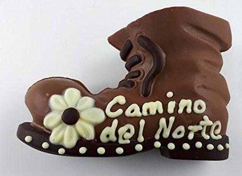 08#021721 Schokolade Wanderschuh, Wanderstiefel, beschriftet mit Wunschtext, Weinachten, Taufe, Geburt, Tortenverzierung, Hochzeit, Schokoladen, Torte'