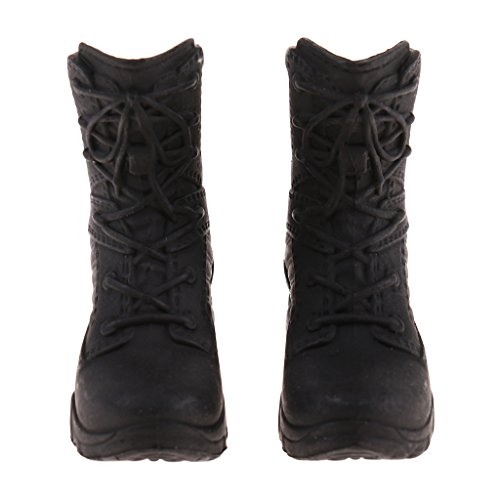 SM SunniMix 1/6 Scale Policewoman Shoes Model Combat Boots for 12'' Female Soldier Body Action Figures Accessories