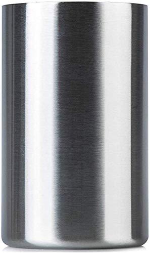 Cubiteras Para Hielo Cubo de hielo Cubo con aislamiento Cubo de enfriador de vino con aireador de vino Se adapta a las botellas de vino de 750 ml que mantiene el vino frío durante horas de acero inoxi