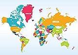 ZBYBGP Rompecabezas para Adultos,Rompecabezas de mapas del Mundo,Rompecabezas para niños,Juego Intelectual,Aprendizaje,Juguetes educativos,1000 Piezas (75 x 50 cm)