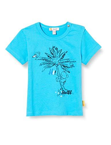 Steiff Shirt, Turquoise (Blue Atoll 6041), 9 Mois Fille