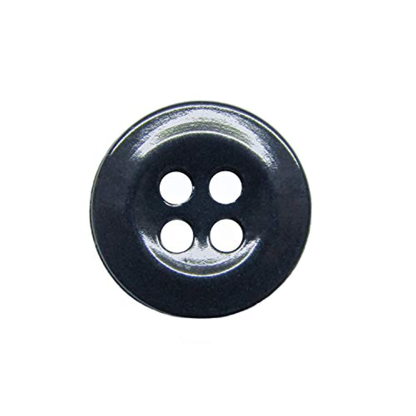 ButtonMode Workshop Industrial Strength Shirt Buttons Includes 22 Buttons Measuring 13mm (1/2 Inch) for Shirts, Navy, 22-Buttons