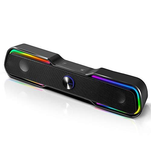 ARCHEER Bluetooth Lautsprecher für PC Gaming Lautsprecher Computer Boxen...