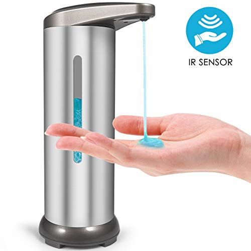 Money2U Automatic Soap Dispenser with Visible Window Newest Auto Hand Infrared Soap Dispenser, Upgraded Stainless Steel Touchless Waterproof Base,...