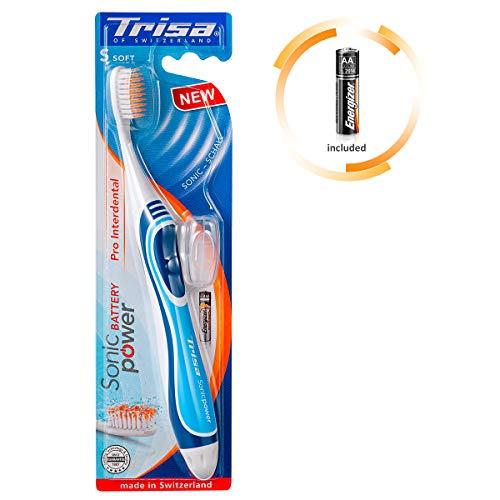 TRISA Sonicpower Battery Pro Zahnbürste Interdental, schwarz/Blau sortiert