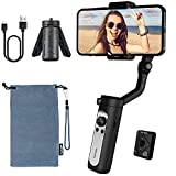 hohem iSteady X2 3-Axis Gimbal Stabilizer for Smartphone, Foldable Phone Gimbal with Wireless Remote and Tripod Compatible with iPhone 12 pro max/11/Xs Max/Samsung/Google Pixel