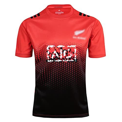 Speed-SY Camiseta De Rugby De Nueva Zelanda 2017-2018, Equipo De La Copa del Mundo De Rugby All Blacks con Uniformes De Visitante Ropa Deportiva Camiseta De Polo para Hombre