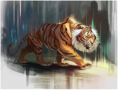 HUIHUI Dibujo de Colores de Imagen por números Pintura Digital Tigre Animal...