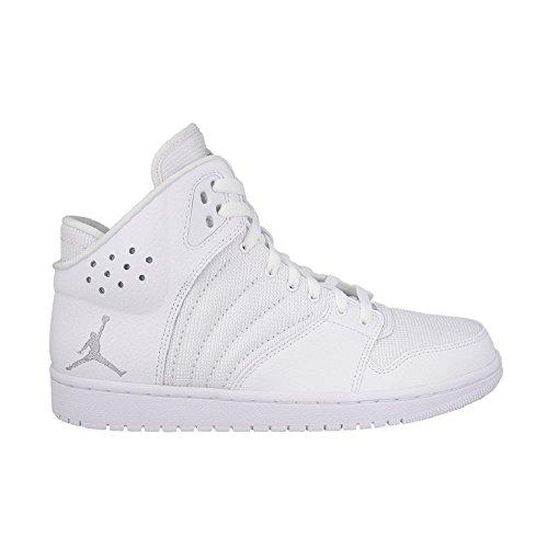 Nike Herren Jordan 1 Flight 4 Turnschuhe, Versilbert (Weiß/Metallic Silver), 47 EU
