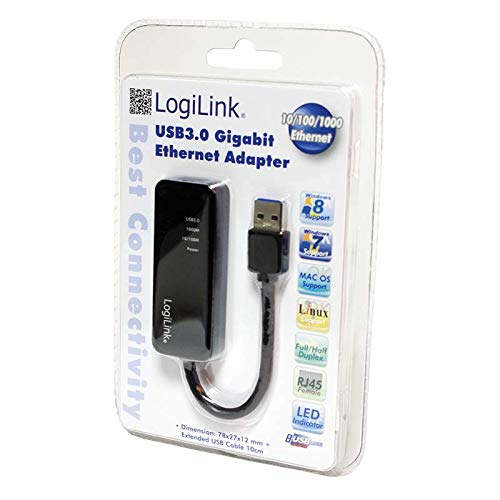 LogiLink UA0184A USB 3.0 zu Gigabit RJ45 Adapter