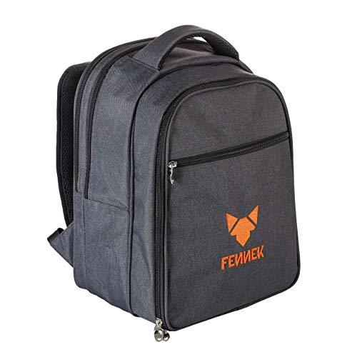 FENNEK Backpack Modell 2021, Picknick, Camping, Trekking, Wander, Outdoor Rucksack, mit Kühlfach & Zubehör für 4 Personen, optional mit FENNEKGRILL…