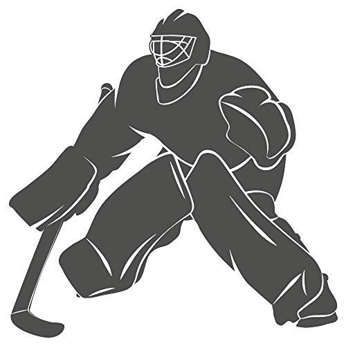 dekodino® Sticker mural gardien de but de hockey sur glace avec raquette sports
