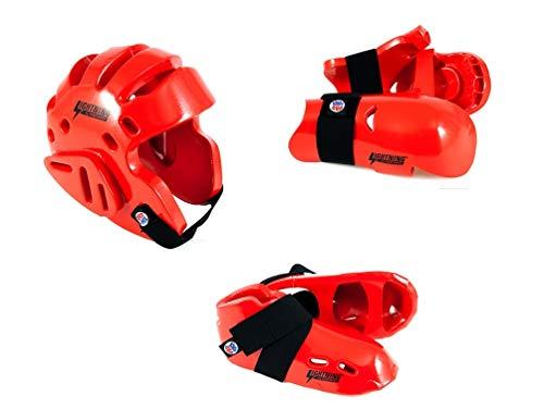 Lightning Red Karate Sparring Gear Package Deal - Child Medium