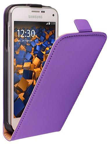 mumbi Tasche Flip Case kompatibel mit Samsung Galaxy S5 mini Hülle Handytasche Case Wallet, lila