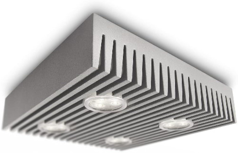 Philips Ledino LED-Deckenleuchte Row 4-flammig dimmbar 6 W, hellgrau 690678716