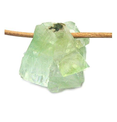 Rohstein gebohrt Apophyllit grün 2 cm