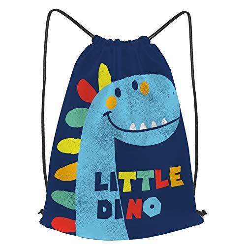 fudin Impermeable Bolsa de Cuerdas Saco de Gimnasio lindo dinosaurio dibujado vector moda infantil Deporte Mochila para Playa Viaje Natación