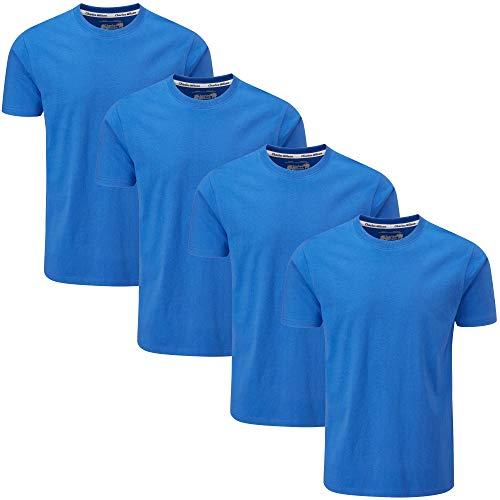Charles Wilson 4er Packung Einfarbige T-Shirts mit Rundhalsausschnitt (Large, Azure)