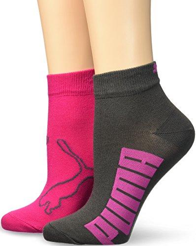 Puma Damen Sportsocken Lifestyle, Mehrfarbig (Grey/Beetroot Pink), 35-38, 2er Pack