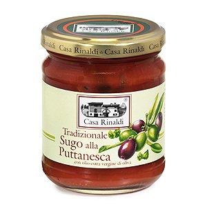 Puttanesca Pastasauce mit Oliven und Kapern Casa Rinaldi 190 Gr.
