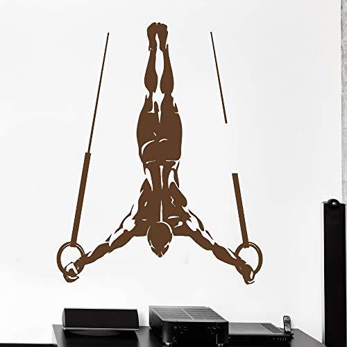 mlpnko Gymnastikringe Wandaufkleber für Fitnessübung Fitnessstudio Poster Dekoration Wandkunst Aufkleber Tapete Wohnkultur, 57x72cm