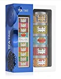 Kusmi Tea Geschenkset Tea Time - 5 Minidosen Aromatee Sortiment + Teezange - Schwarzer Tee, Earl...