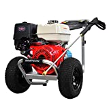 SIMPSON Cleaning ALH4240 Aluminum Gas Pressure Washer Powered by Honda GX390, 4200 PSI @ 4.0 GPM, Red