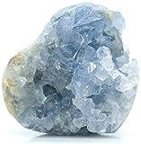 Espécimen de racimo de Cristal de celestita de Cuarzo de Cristal Azul Natural, Cristales para el hogar, decoración de Adorno de Piedra