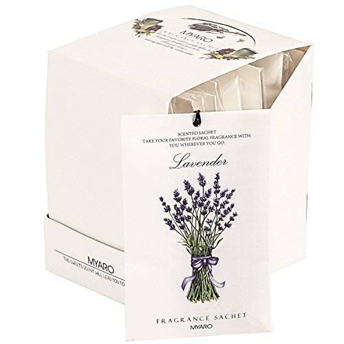 MYARO 12 Packs Lavender Scented Sachets for Drawer and Closet (A-Lavender)