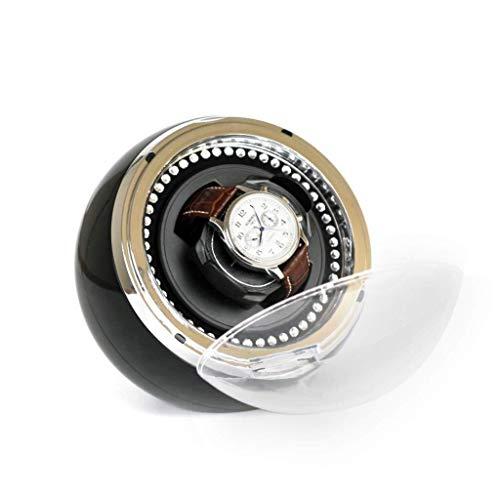 Enrolladores de Reloj Enrollador de Reloj automático Redondo con Motor silencioso, luz LED, Caja de Relojes Caja de enrollador de Reloj