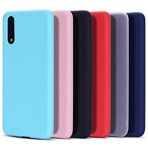 6x Cover Huawei P20, CaseLover Ultra Sottile Morbido TPU Silicone Custodia per Huawei P20 Satinate Opaco Protezione Copertura Matte Gomma Gel Protettiva Caso Antiscivolo Antiurto Case - Sei colori
