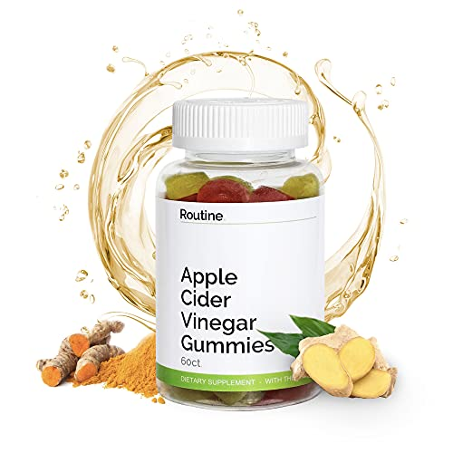 Apple Cider Vinegar Gummies, ACV Gummies with Mother for Weight Loss, Better Digestion, More Energy, Detox, Gummy Vitamins for Adults and Kids - Routine (1 Bottle)
