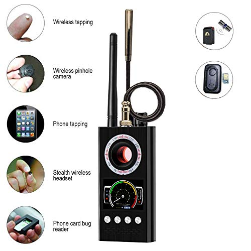 New Anti Spy RF Detector Wireless Bug Detector Signal for Hidden Camera Laser Lens GSM Listening Dev...