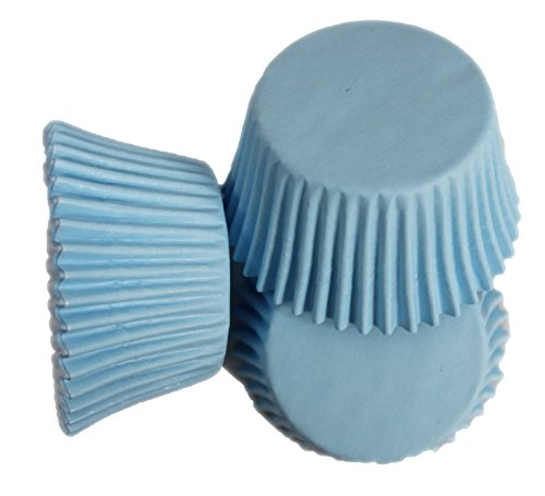 Scrumptious Cupcake-Förmchen, fettdicht, 65g/m², Babyblau, 36 Stück