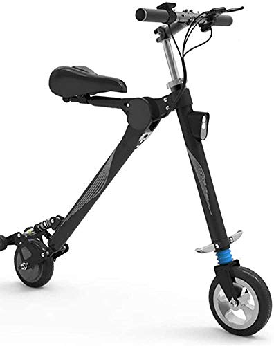 Portable Aviation Aluminum Alloy Super Body Electric Scooter Adult Fast E Electric Bicycle, Portable Foldable, 36V5.2A Lithium Battery, 150KG Load, 20KM Battery Life, Shoc LATT LIV