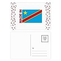 コンゴ川国に恋をした クリスマスの花葉書を20枚祝福する