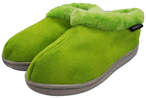 NORTY - Toddler Girls Faux Suede with Fleece Slip On Slippers, Lime 40860-8MUSToddler