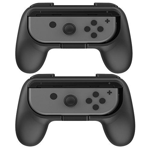 Boladge 2 x Game Controller Grip Schalter Links Gamepad Grip Right Gaming Controller Grip Für Nintendo Switch Joy-Con (Schwarz und Schwarz)