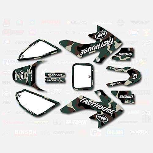 Army Camo Graphic Kit fits Honda 04-19 CRF50 Shroud Decal CRF 50 sticker pitbike