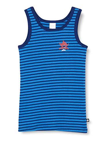 Schiesser Jungen Capt´n Sharky Hemd 0/0 Unterwäsche, blau, 128