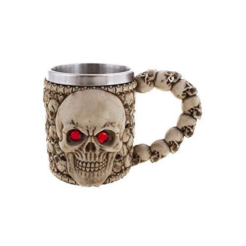 Fasent-Party® Taza medieval de Halloween – Acero inoxidable taza de café taza...