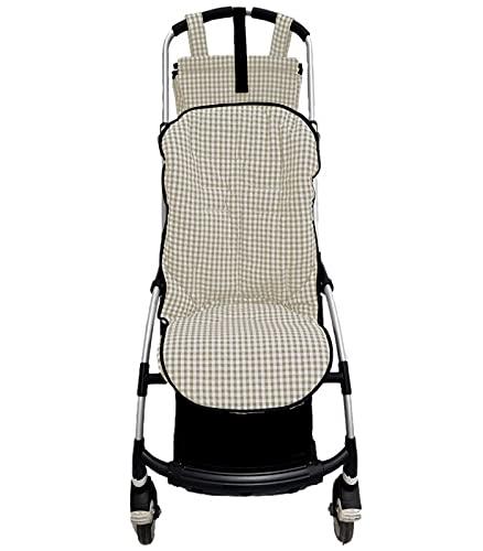Colchoneta o funda para silla carrito Bugaboo Bee. Vichy (Arena)