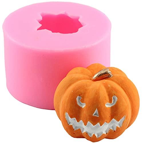 FUFRE Molde de silicona con forma de calabaza en 3D para Halloween, calabaza, velas, jabones para decoración de tartas, chocolates, dulces, fondant, etc.