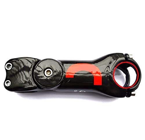 Bicicleta Manillar Bicicleta Elevador Accesorios Componentes Montaña Fibra de Carbono Super Light Road Angulo 45°, tamaño 110 mm